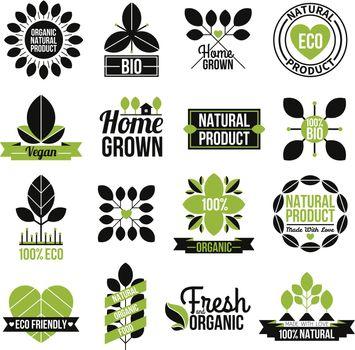 Organic Natural Product Label Set