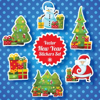 New Year Stickers Collection