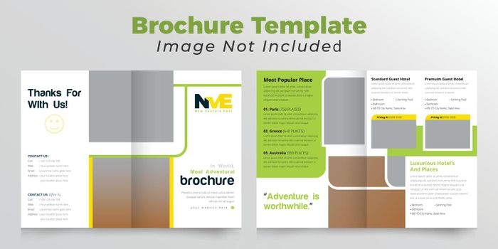 Travelling and adventural Business bifold brochure