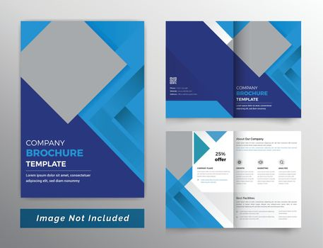 Multi color color dark bifold brochure design