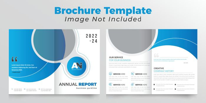 Creative bifold business brochure design template