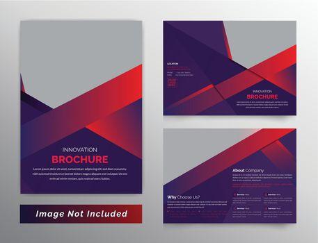 Unique and Creative business bifold brochure dark theme