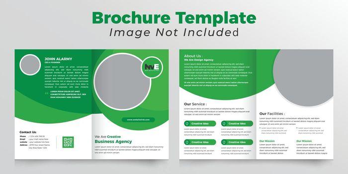 Ellips shape abstract bifold brochure deisgn