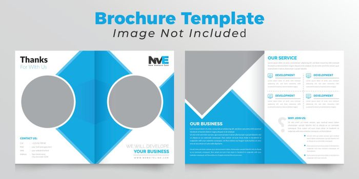 Bifold business brochure deisgn with rectangle shape
