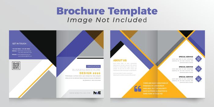 Corporate bifold business brochure