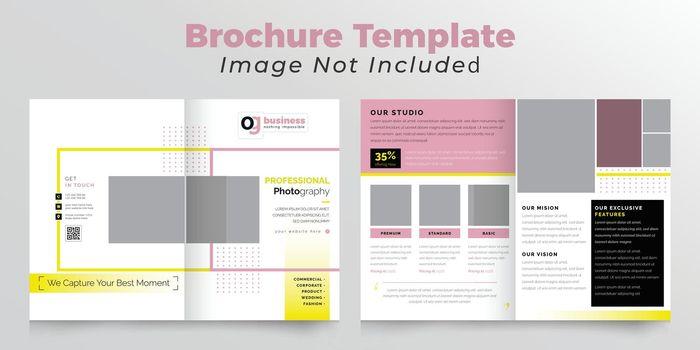 Photography bifold brochure deisgn template