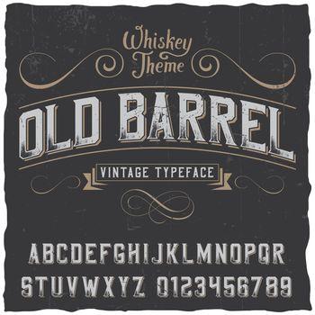 Old Barrel Poster