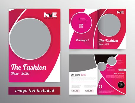 Bifold brochure design for fashion and products