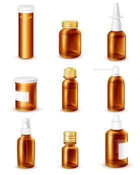 Pharmaceutical Bottles Set
