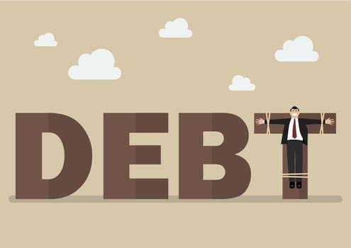 Businessman crucified on debt
