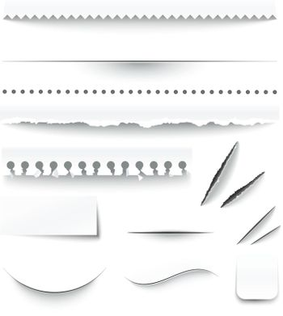 Transparent Checkered Paper Edges Realistic Set