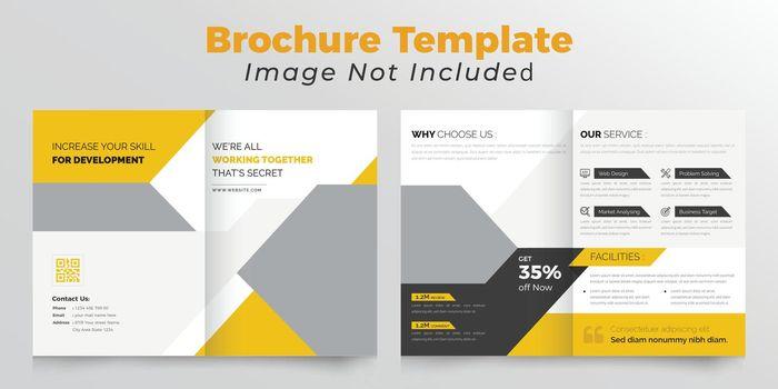 Corporate bifold business brochure  Clean design