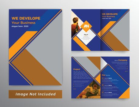 Colorful bifold business brochure design