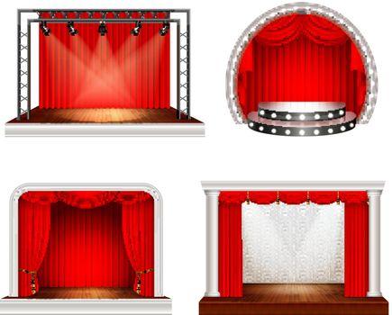 Realistic Stage Design Set