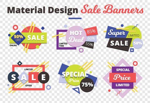 Sale Transparent Icon Set