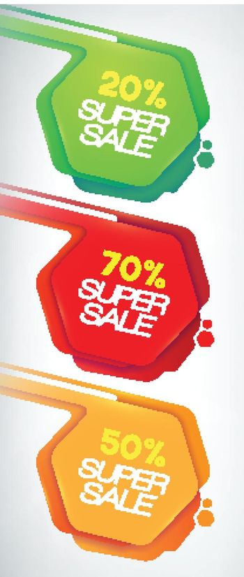 Sale Banners set. discounts and offers for your business