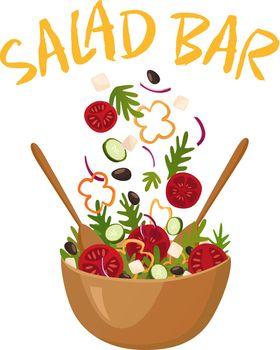 Salad Bar Vector Illustration