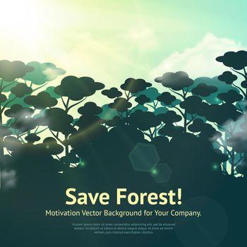 Save Forest Illustration