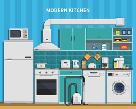 Modern Kitchen Background