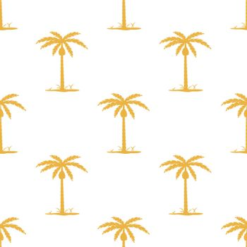 Seamless pattern with tropic palm