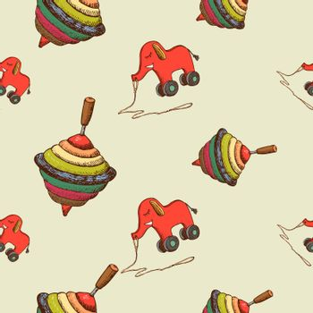 Seamless pattern baby toys