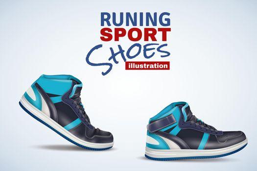 Running Sport Shoes Illustration