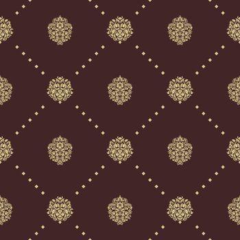 Royal baroque seamless pattern