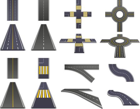 Road Parts Perspective Set