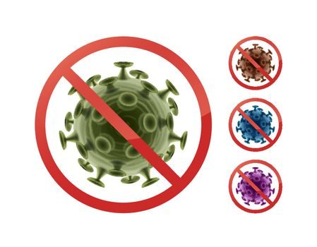 Stop sign on bacteria