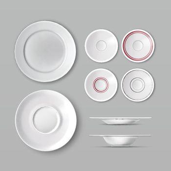 Set of dishware