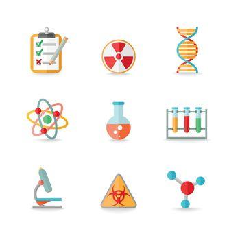 Chemistry icons set