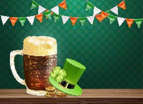 Saint Patricks Holiday Composition