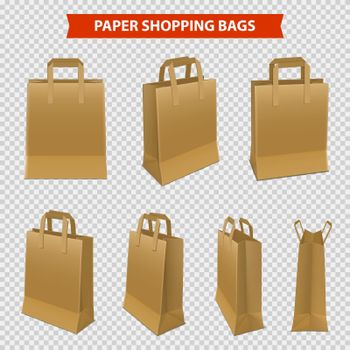 Set Of Paper Bags For Shopping