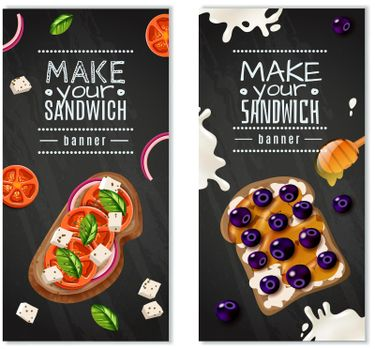 Sandwiches Vertical Banners