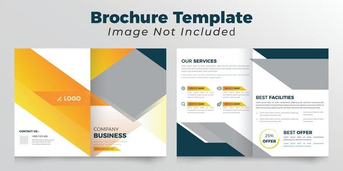 Abstract bifold business brochure deisgn