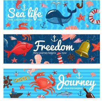 Sea Journey Horizontal Banners