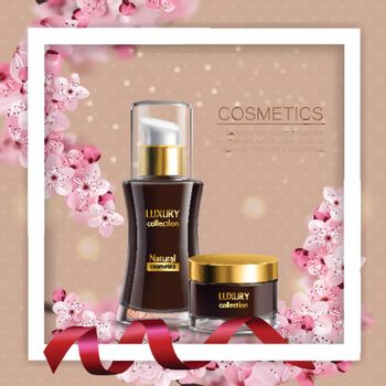 Sakura Colored Composition