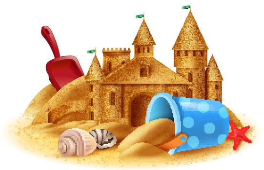 Sand Castle Realistic Background