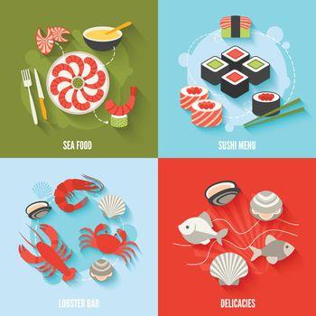 Seafood flat set