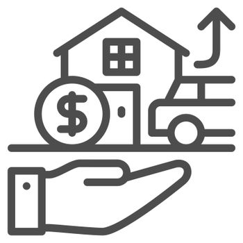 Asset icon design outline style