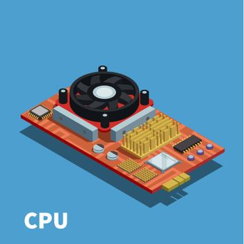 Semiconductor Isometric Poster