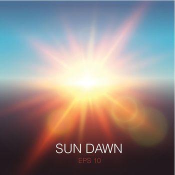 Realistic Sun Dawn Beams