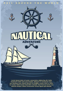 Retro Nautical Poster