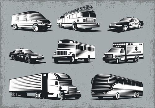 Retro Style Transport Set