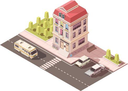 Residential House Isometric Mockup