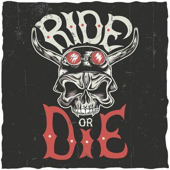Ride Or Die Label Poster
