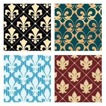 Royal lily patterns