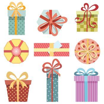 Vector present boxes