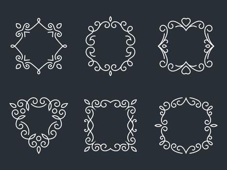 Outline monogram frames