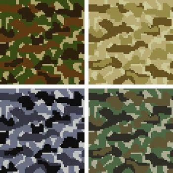 Pixel Camouflage Patterns